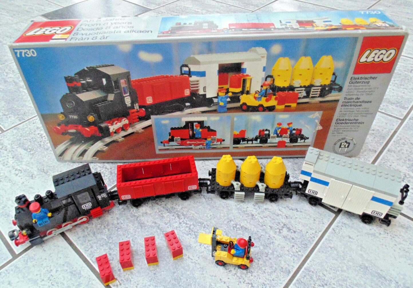LEGO Ferrovia 12v 12 Volt, locomotiva, Lok, treno merci  7730  con BA + OVP