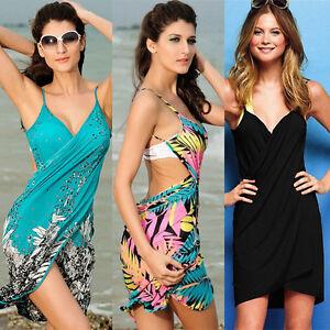 4faac9b08fcea Image is loading Fashion-Sexy-Women-Summer-Beach-Dress-Bikini-Swimwear-