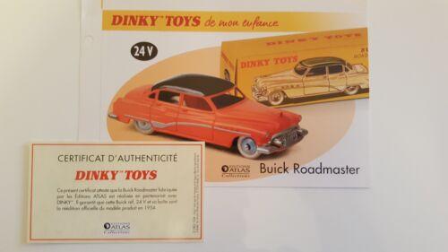 Dinky Toys Atlas certificat SEULS de la Buick Roadmaster Fascicule