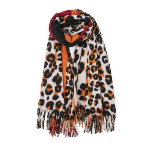 Women/'s Ladies Leopard Print Scarf Cashmere Shawl Wrap Winter Warm Scarves UK