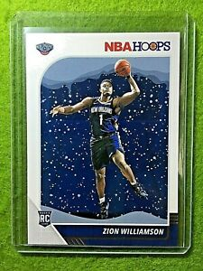 ZION-WILLIAMSON-ROOKIE-CARD-JERSEY-1-PELICANS-SP-RC-2019-20-Panini-Hoops-WINTER