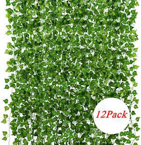 Artificial Hanging Plant Fake Vine Ivy Leaf Rose Greenery Garland Party Weddin