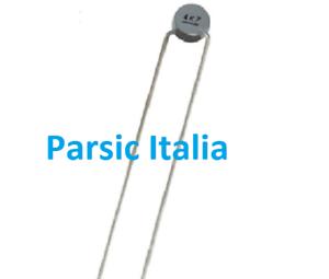 NTC 4,7 THERMISTOR 4K7 4.7kΩ D=2,5mm 2 pin Pitch Dist. = 2.54mm  (QTY: 10 PEZZI)