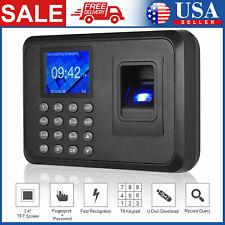 Biometric Fingerprint Checking In Attendance Machine Employee Time Clock S7j0