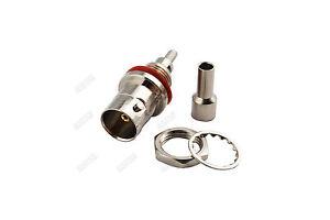 10x-BNC-female-bulkhead-o-ring-Crimp-connector-RG179-RG316-RG174-Cable-RF-75ohm