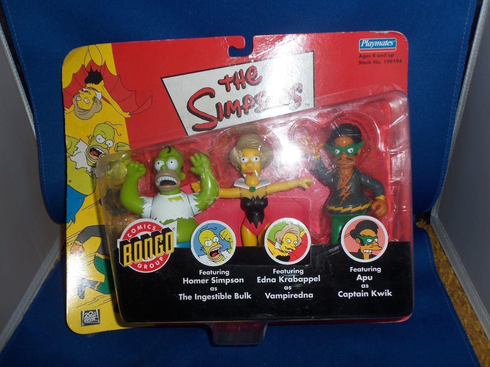 Die Simpsons Bongo Comics Superheld Actionfigur Set Homer Edna Krababppel Apu