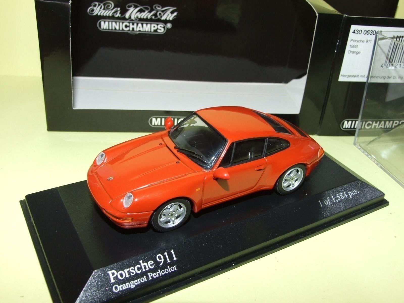 PORSCHE 911 CARRERA 993 1993 orange MINICHAMPS 1 43