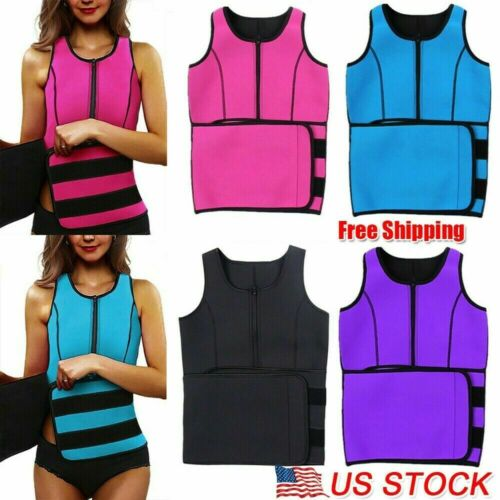 Women Body Shaper Sweat Sauna Waist Slimming Cincher Corset Neoprene Shapewear