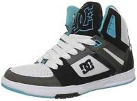 Womens Dc Shoes Trainers Stance High Hi Top Ibb White Black Blue Skate