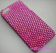 HOT PINK Crystal Rhinestone Bling Back Case for iPhone 4 4S w/ Swarovski Element