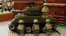 Mechanized Infantry KM-11 Tank Team 4 Army minifigure soldiers Lego parts Set