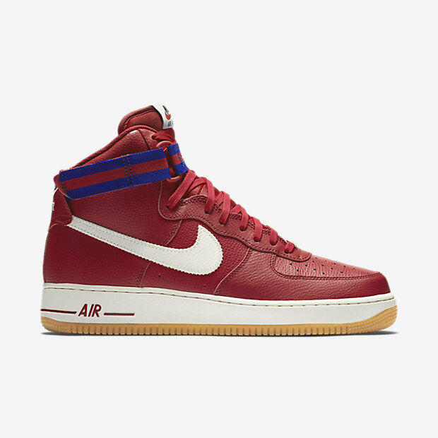 315121-605 Men's Nike Air Force 1 High 07 Shoe! GYM RED/DP RYL BL/GM LGHT BRN/SL New shoes for men and women, limited time discount