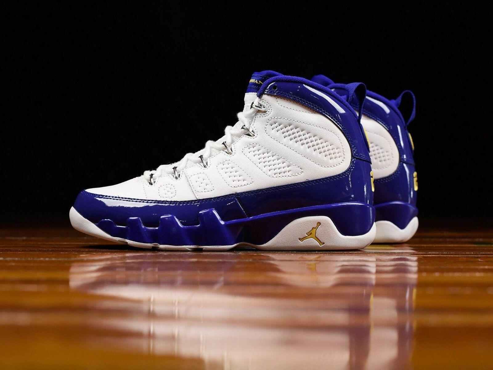 Nike Air Jordan 9 Retro 302370-121 SIZE 11.5 USA KOBE BRYANT 23 LAKERS TOUR NEW