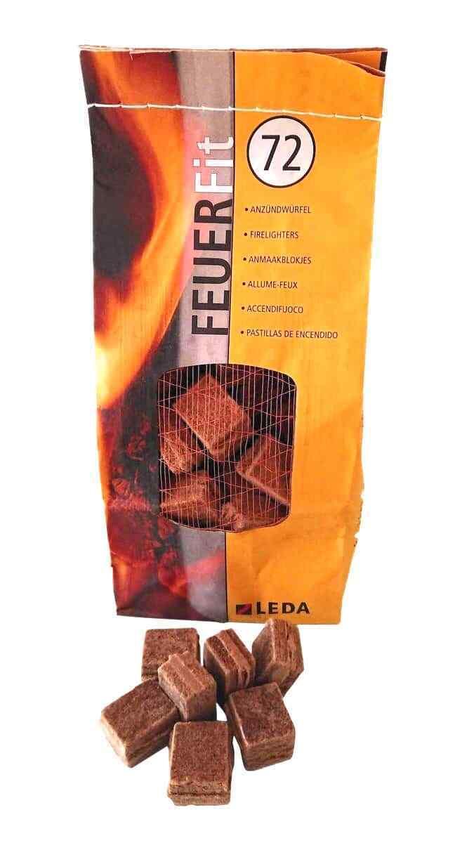 Allume-Feu Leda Feuerfit Cube D'Allumage   72 Pièce