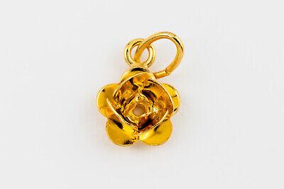 17mm Gold Plated Puffed Heart Charm #BGN045
