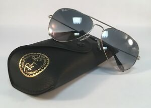 ef6dd5efd0 New RAY BAN Sunglasses 3025 003 32 Aviator Silver Grey Ray-Ban ...