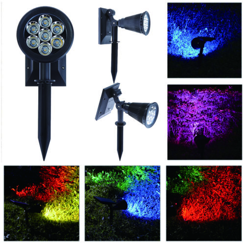 7LED Solar Power Garden Lamp Spotlight Outdoor Lawn Landscape Pahway Lawn Lights