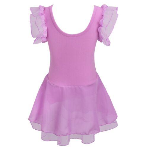 Girls Ballet Tutu Skirt Skating Dress Dance Costume Leotard Dancewear Unitard