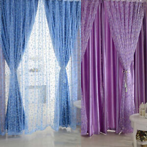 image is loading jz voile curtain bedroom window door divider sheer