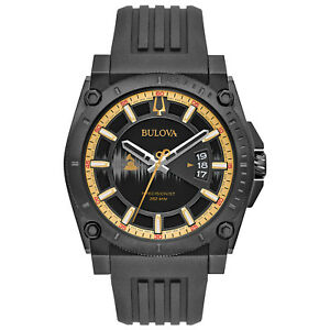 Bulova-Precisionist-Men-039-s-Quartz-Grammy-Edition-Black-47mm-Watch-98B294