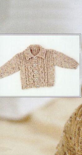 6 sizes PO307 Knitting Pattern Baby-6yrs Collar or Hoodie Style Cardigan