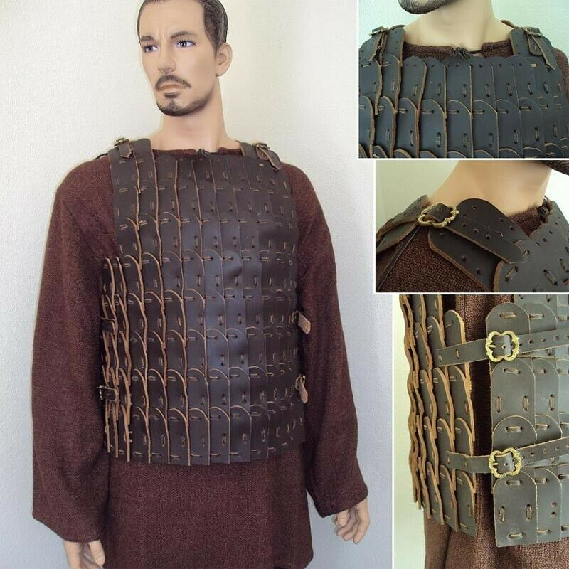 Roman Brown Leather Scale Cuirass Armour for Stage Costume Re-enactment & LARP