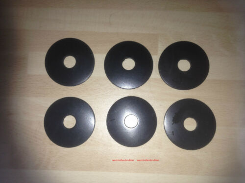 "6 LARGE RUBBER WASHERS  2/""  O//D  X   5//8/"" hole    X  3MM  THICK"