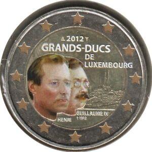 LU20012.5 - LUXEMBOURG - 2 euros commémo. Colorisée Grands-Ducs de Luxem. - 2012