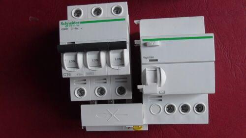 DISJONCTEUR DIFFERENTIEL  iC60H  3P C16 16A 300mA-AC  SCHNEIDER  VIGI A9Q14325