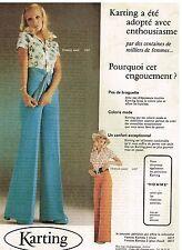 Publicité Advertising 1974 Pret a porter les pantalons femme Karting