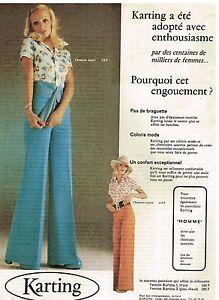 Pret Publicité Porter Pantalons Les Advertising A 1974 Karting Femme cWcEgr