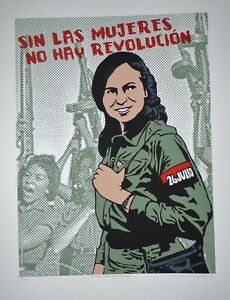 THERE-039-S-NO-REVOLUTION-WITHOUT-WOMEN-Feminist-Screen-print-Poster-Shows-Cuba-Hero
