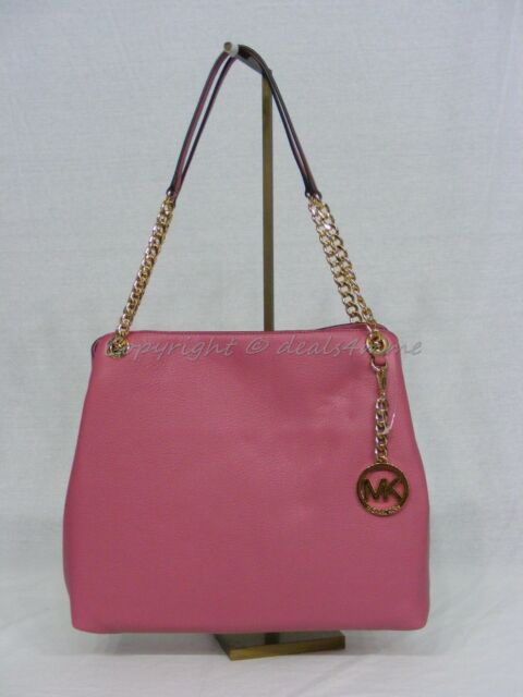 Michael Kors Large Jet Set Chain Leather Shoulder Tote in Tulip 30s5gtce3l 9c5ef31642188