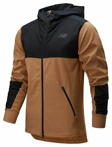 New-Balance-Men-039-s-Fortitech-Mixed-Media-Lined-Jacket-Brown
