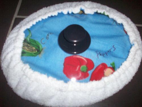 Autocuiseur 1.5//2L bleu légumes motif /& towell couverture ovale couvercle 8.25 x 7 pouces