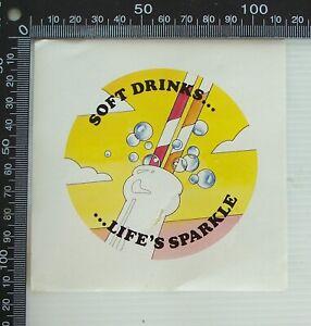VINTAGE-SOFT-DRINKS-LIFE-039-S-SPARKLE-MILK-BAR-POS-SHOP-ADVERTISING-PROMO-STICKER