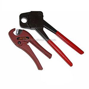 3 4 pex crimping crimper tool w gonogo pex cutter ebay. Black Bedroom Furniture Sets. Home Design Ideas