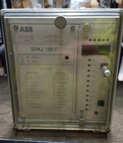 R3S9.2 ABB SPAJ140C OVERCURRENT AND EARTH-FAULT RELAY