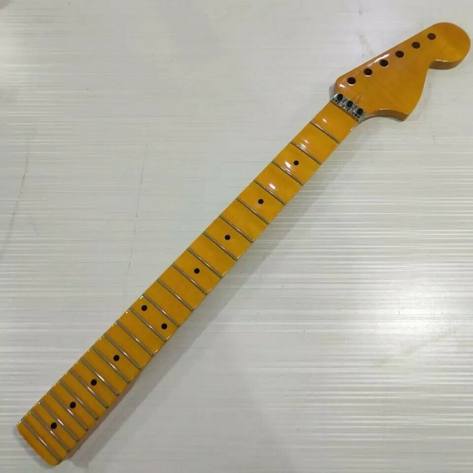 Scalloped Maple Neck for Strat with Locking Nut   22 Frets   For ST Style Guitar