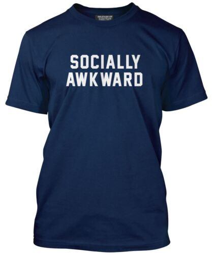 Socially Awkward Tee Funny Fashion Mens T-Shirt Many Colours