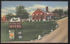 Postcard ROANOKE Virginia/VA  Hitching Post Tourist Motel Motor Court 1930's