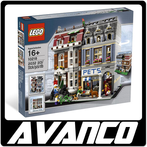 LEGO Creator Pet Shop & Townhouse Modular 10218 BRAND NEW SEALED RETIRED
