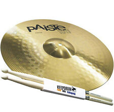 """PAISTE 101 Brass 14"""" Crash Becken + 5A Keepdrum Drumsticks"""