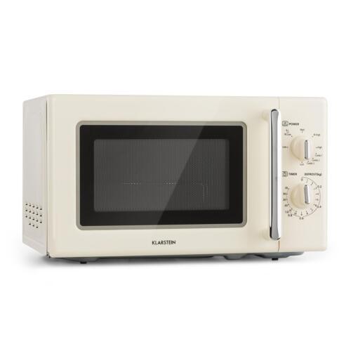 *B-WARE* Klarstein Retro Mikrowelle 700 W Grill 1000W Microwave 20l Timer
