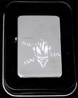 Joker Batman Super Hero Comic Engraved Chrome Lighter Biker Patch Gift Len-0029