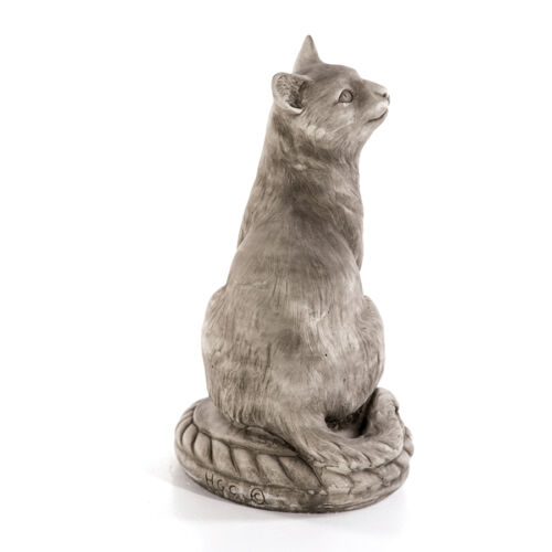Pierre personnages chat assis grès animaux chats Jardin Figurines Neuf 462823