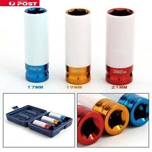 3pc-Alloy-Wheel-Deep-Impact-Nut-Socket-Set-17-19-21mm-1-2-034-Nylon-Sleeve