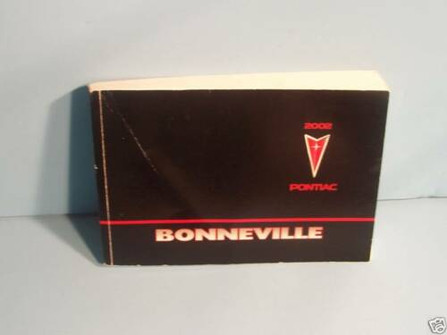 02 2002 Pontiac Bonneville owners manual