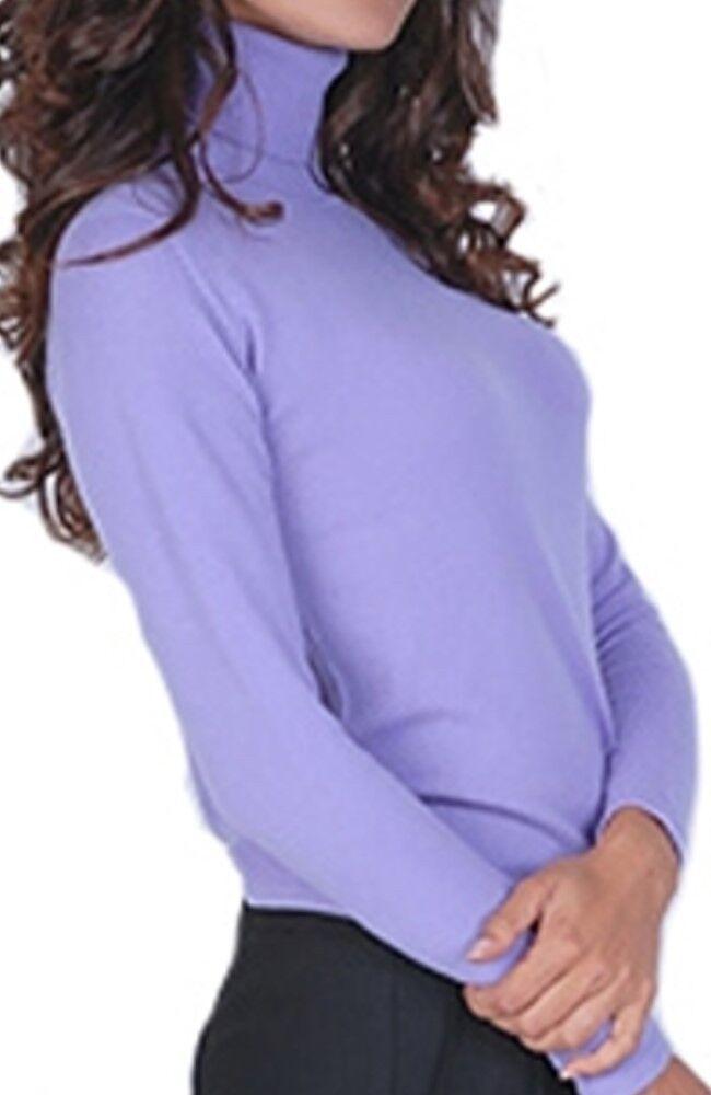 Balldiri 100% Cashmere Damen Pullover Rollkragen ohne Bündchen lavendel S