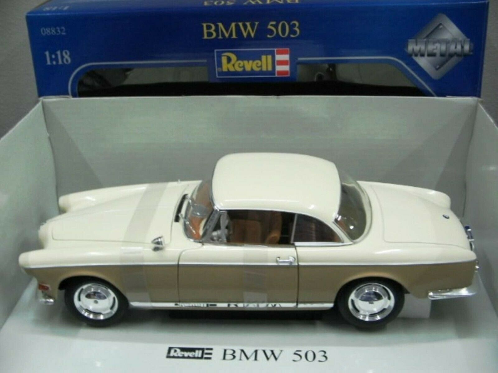 WOW EXTREMELY RARE BMW 503 Coupe 3.2 V8 Two Tone Cream Beige 1 18 Revell-502 507